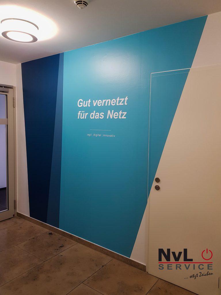 Digitaldruck als Wandgestaltung Innenraum Eon